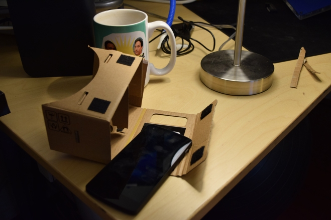 The completed viewer and my (needs-cleaning) Nexus!