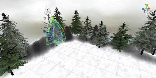 Trees! Mesh colliders, even snow! It's Christmas in my Macbook Pro!
