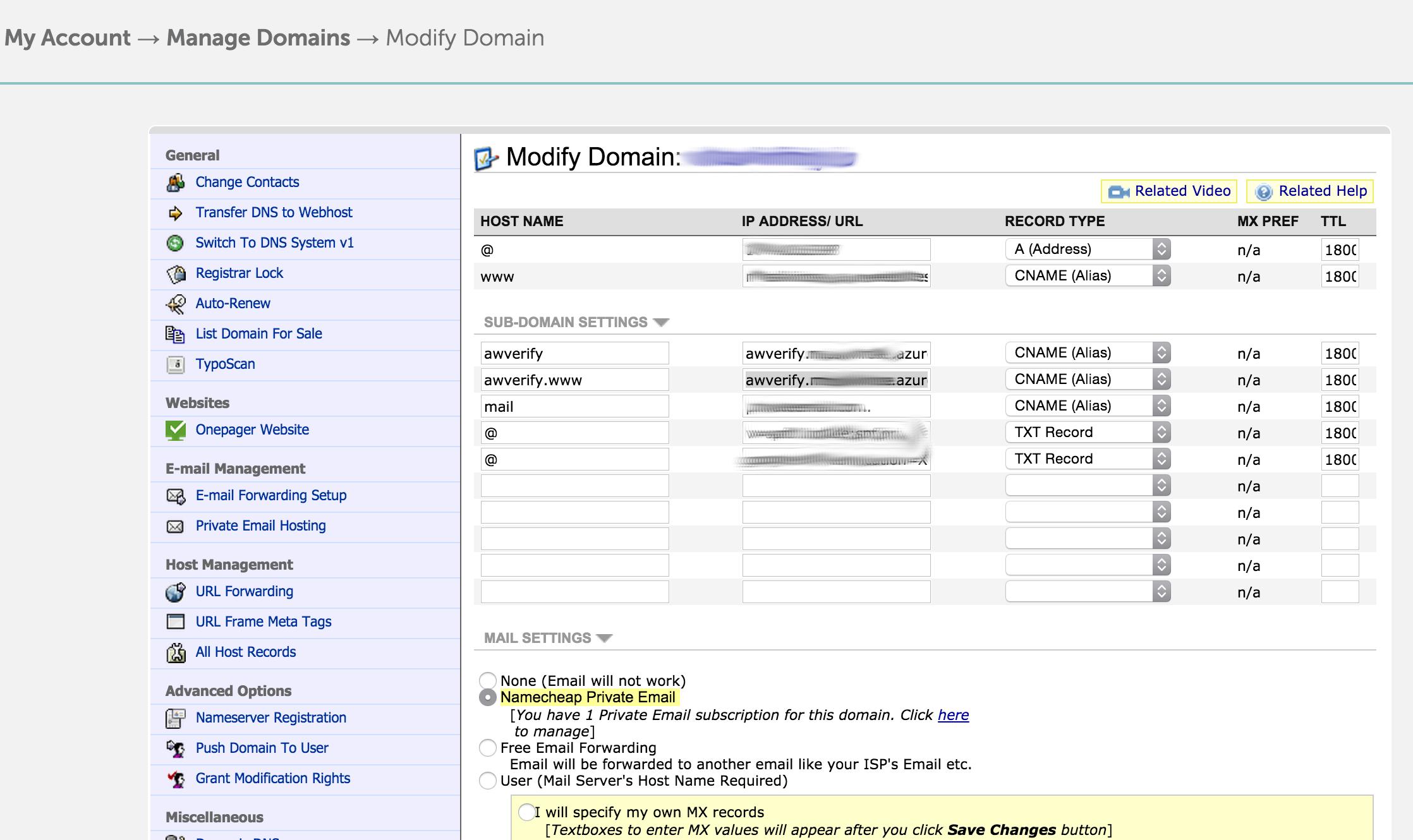Host Website On Azure Customdomain