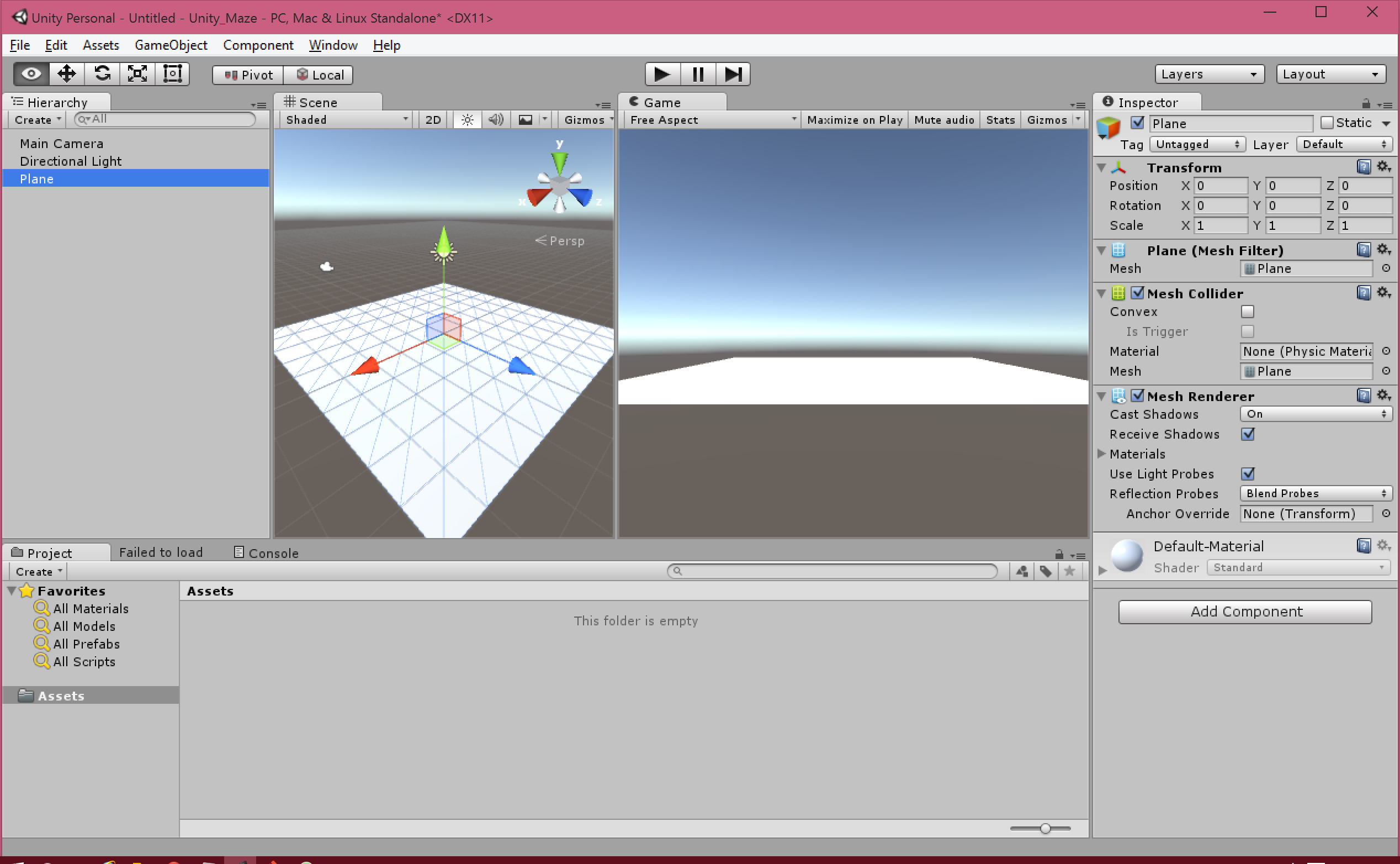 how to create a grid in unity